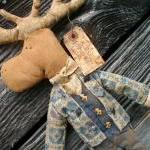 Primitive Moose Doll - Wall..