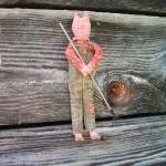 Primitive Farming Pig Doll ..