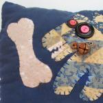 Primitive Whimsical Pillow ..