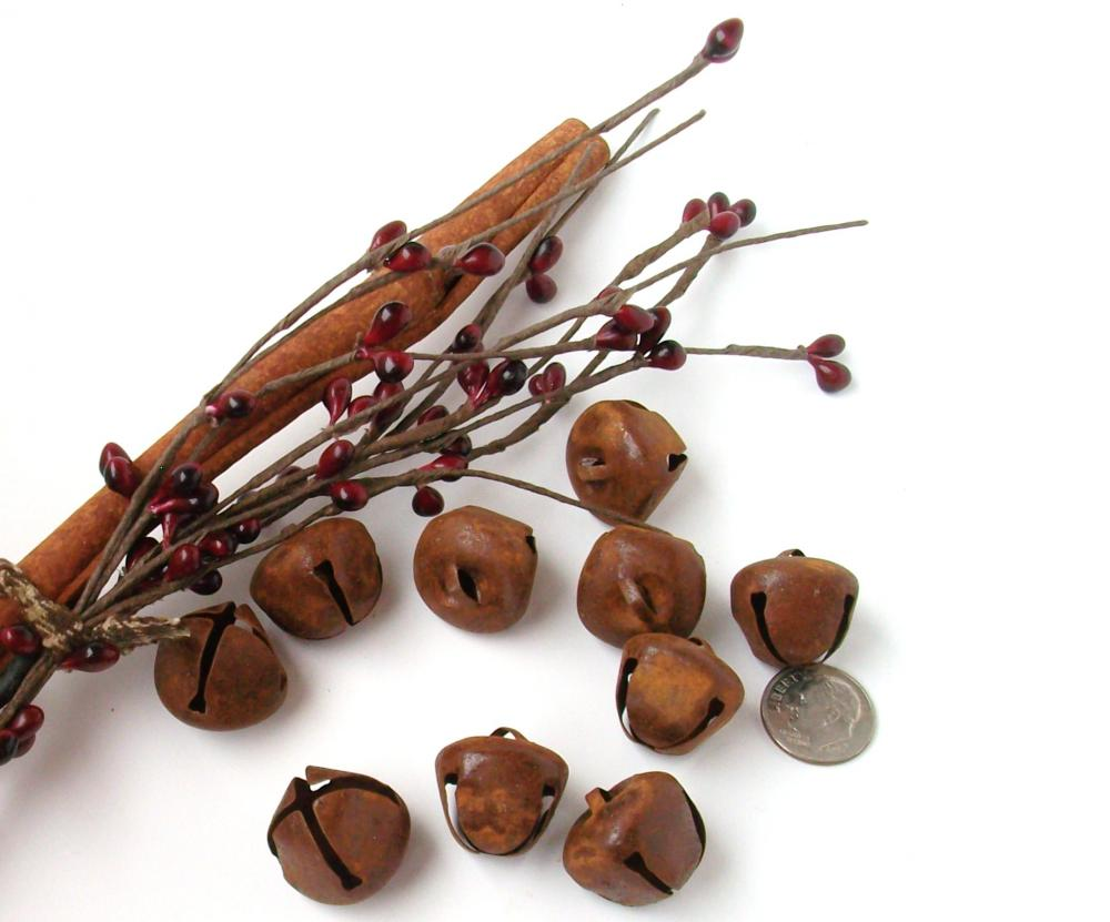 Rusty Jingle Bells - 20mm - Medium size - Crafting or Sewing Supply - 5 Count Package