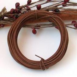 Rusty Tin Wire - 30 Feet 22 Gauge - Primitve Supply - Sewing or Craft Projects